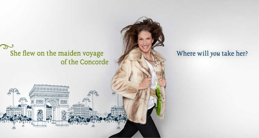 She flew on the maiden voyage of the Concorde